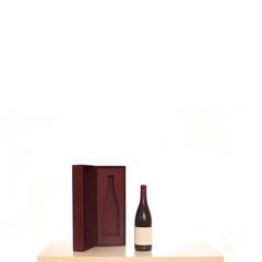 Weinflasche und Aufbewahrungsbox