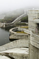 Section view of the big dam