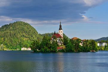 Alpine lake in Bled, Slovenia