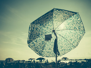 Sun through a Beach Umbrella