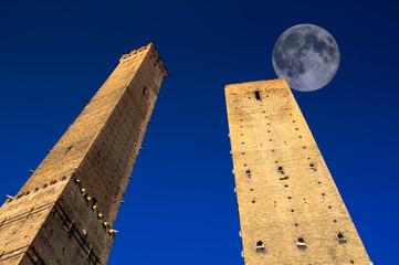 Full Moon over Bologna Towers