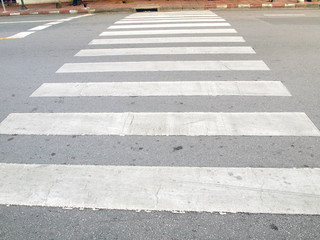 Zebra traffic walk way in the city