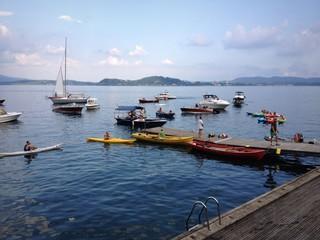 Lesa, la benesizione delle barche