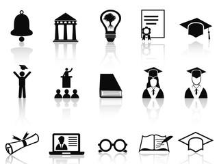 black college icons set