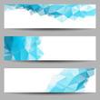 Zdjęcia na płótnie, fototapety, obrazy : Set of banners with abstract triangles