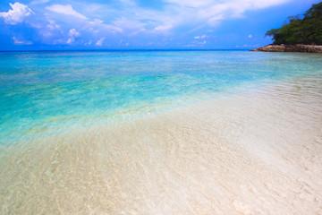 Beach of tropical crystal clear sea, Tachai island, Andaman, Tha