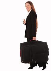 Geschäftsfrau bei der Abreise