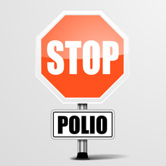 red polio Stop Sign