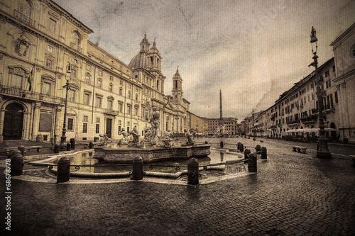piazza-navona-rzym-wlochy-obraz-w-artystycznym-stylu-retro