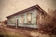 old wooden house in Poltava. Ukraine.