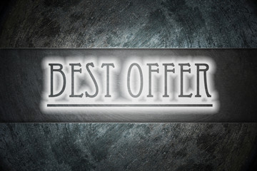 Best offer text on background