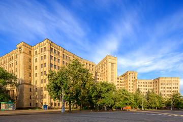 University building in the biggest square in Europe. Kharkov.