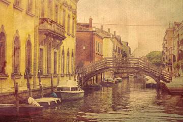 architecture of Venice. Italy. Picture in artistic retro style.