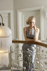 blond woman indoor posing