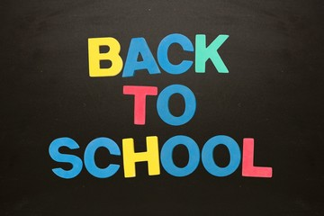 Colourful back to school message