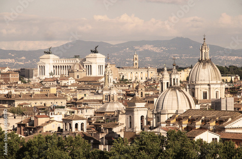 Obraz na Szkle Beautiful panorama of Rome, Italy