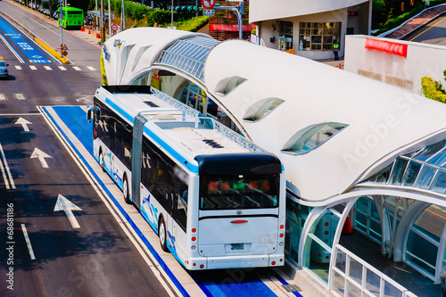 bus rapid transit (BRT) system in Taichung, Taiwan - 68681186