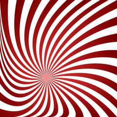 Dark red twirling ray design