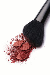 Close-up of Make-up Powder with Brush