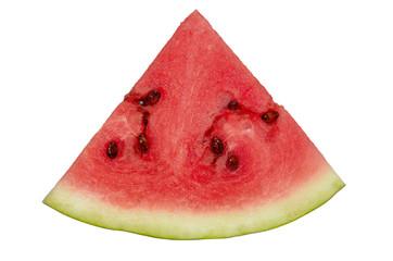 Ripe watermelon on white