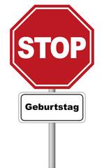 Stopschild rot