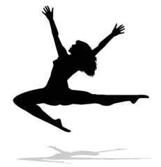 silhouette di ballerina di spalle