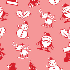 simple Christmas seamless background vector