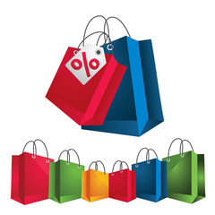 vector colorful shopping package