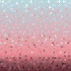 Background with colorful shining hexagons