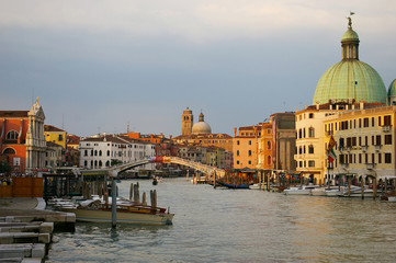 Italy: Venice sunset paint, Grand Canal