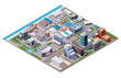 Isometric industrial and business city district map - 68683155