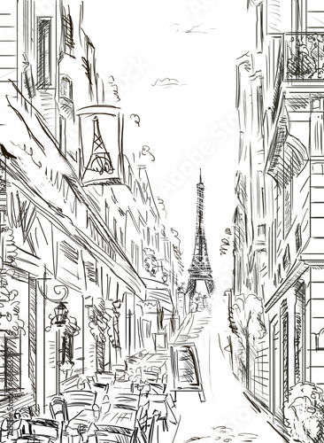 Street in paris - illustration - 68683367