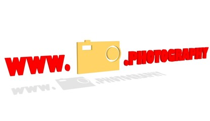 new top level domain photography presentation and relative icon