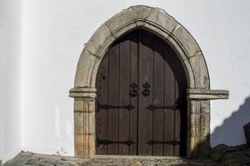 large medieval wooden door