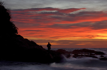tramonto pescatore
