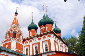 Old orthodox church in Yaroslavl, Russia.