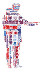 Words illustration of the concept of authority