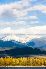 Liptovska Mara with Western Tatras at background, Slovakia