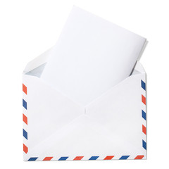 Blank Envelope with Letter and clipping path