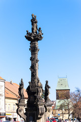 the plague column in Rakovnik, Czech Republic