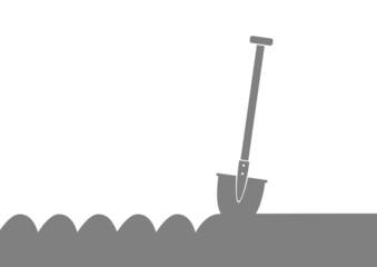 Grey spade icon