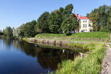 On the territory of Priozersky military sanatorium. Russia.