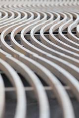curved metal lines