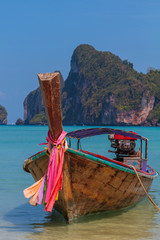 Boat in Phi Phi island Thailand