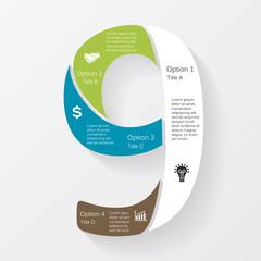 Vector business infographic, diagram, presentation