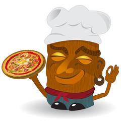 pizza tiki statue