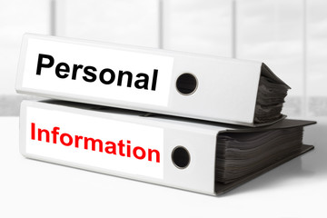 office binders personal information