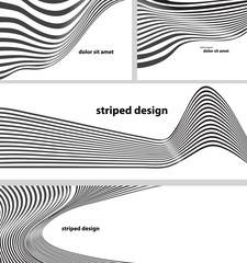 striped design set