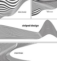 striped design set