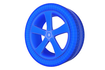 Tires - Grid Net, blue